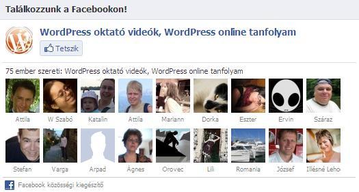 Facebook doboz