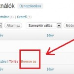 A &quot;Browse As&quot; funkci aktivlsa