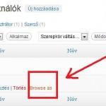 """A """"Browse As"""" funkció aktiválása"""