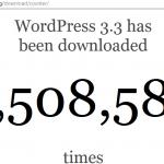 WordPress 3.3 letöltési adat