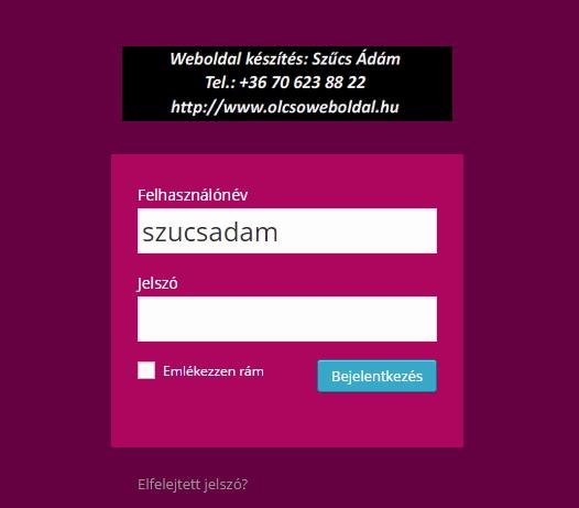 egyedi-login-oldal