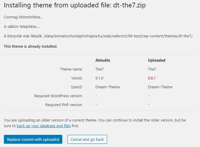 WordPress 5.5: kinézet frissítés visszafelé